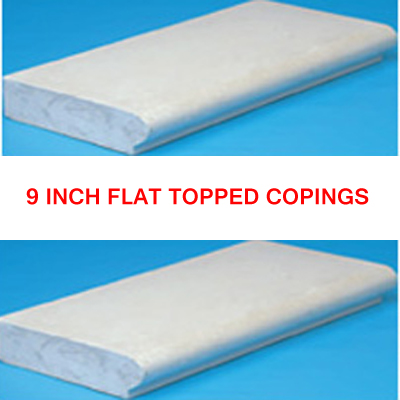 9 Inch Swimming Pool Flat Topped Coping Stone Kits
