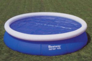 Bestway Solar Cover Fast Set Inflatable Ring Round Above